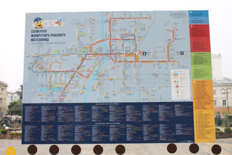 Схема руху трамвая вінниці